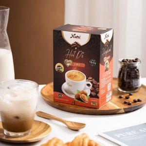 Cà phê capuccino hạt dẻ