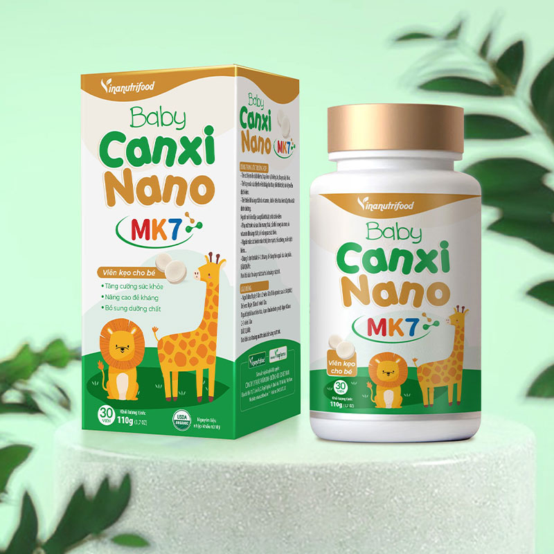 Keo Viên Cho Bé - Baby Canxi Nano MK7