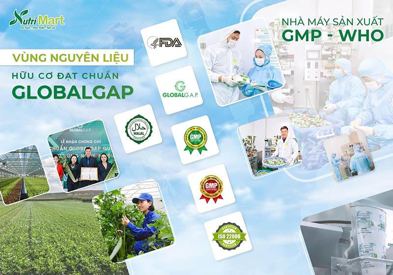Vinanutrifood tự hào sở hữu hai nhà máy đạt tiêu chuẩn GMP