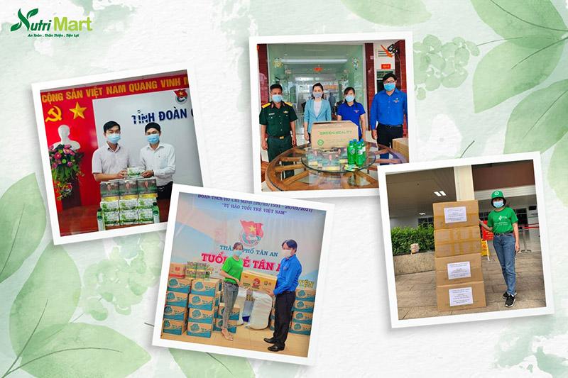Nutri Mart ủng hộ cho cư dân vùng cách ly tại địa điểm cách ly, Trường quân sự - Bộ tư lệnh thủ đô Hà Nội