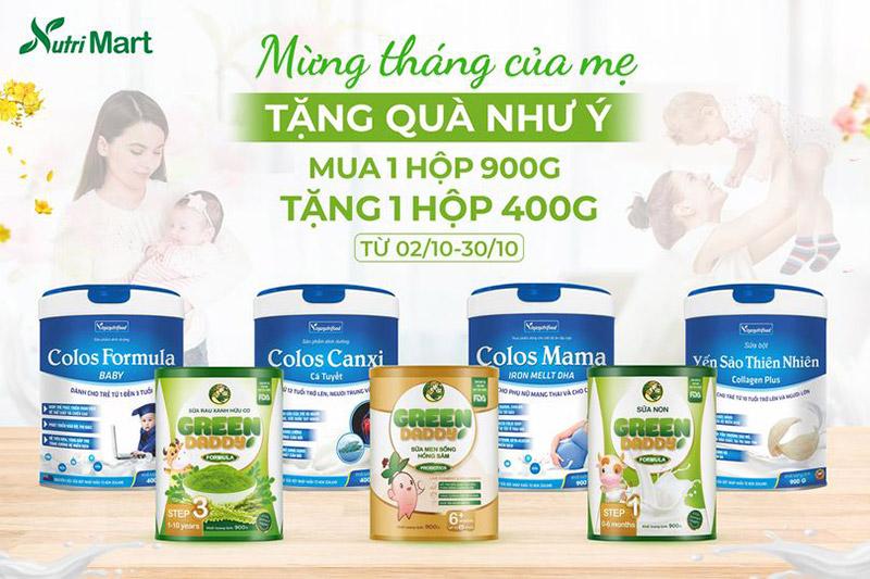 sản phẩm sữa bột Nutri Mart